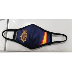 Cubremascarilla Policia España