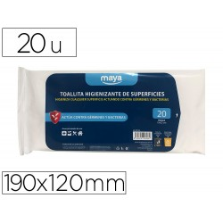 Toallita desinfectante para superficies medidas 190 x 120...