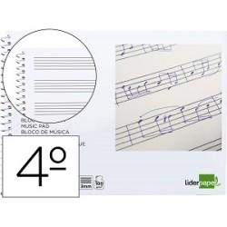Bloc musica liderpapel pentagrama 3mm cuarto 20 hojas...