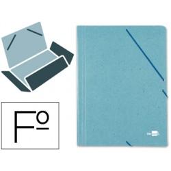 Carpeta liderpapel gomas folio 3 solapas carton prespan...