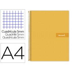 Cuaderno espiral liderpapel a4 micro crafty tapa forrada...