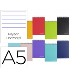 Cuaderno espiral liderpapel a5 micro witty tapa dura 140h...