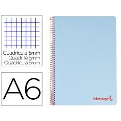 Cuaderno espiral liderpapel a6 micro wonder tapa plastico...