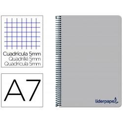 Cuaderno espiral liderpapel a7 micro wonder tapa plastico...