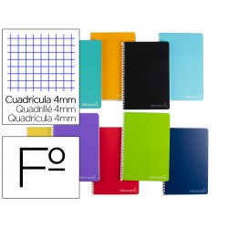Cuaderno espiral liderpapel folio witty tapa dura 140h...