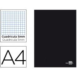 Libreta liderpapel tapa negra a4 80 hojas 60g/m2 cuadro...