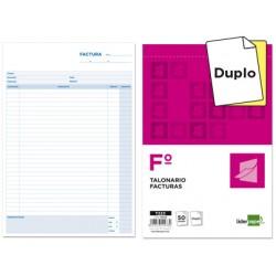 Talonario liderpapel facturas folio original y copia t223...