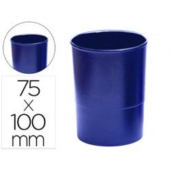 Cubilete portalapices q-connect plastico azul opaco