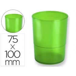 Cubilete portalapices q-connect plastico verde translucido
