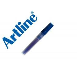 Recambio rotulador artline clix permanente ek-73 azul.