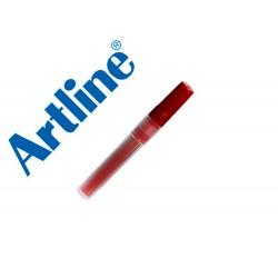 Recambio rotulador artline clix permanente ek-73 rojo