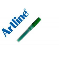 Recambio rotulador artline ek-63r clix fluorescente verde