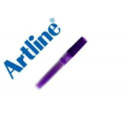 Recambio rotulador artline ek-63r clix fluorescente violeta