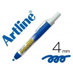 Rotulador artline clix fluorescente ek-63 azul punta...