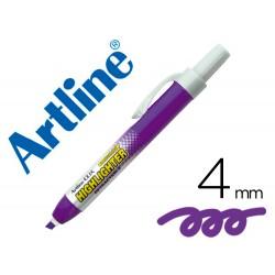 Rotulador artline clix fluorescente ek-63 violeta punta...