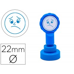 Sello artline emoticono disgusto color azul 22 mm diametro