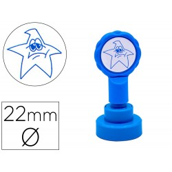 Sello artline emoticono estrella triste color azul 22 mm...