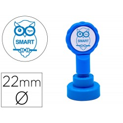 Sello artline emoticono inteligente color azul 22 mm...