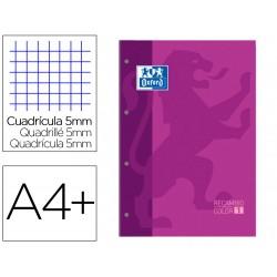 Recambio color 1 oxford din a4+ 80 hojas 90 gr cuadro 5...