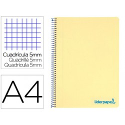 Cuaderno espiral liderpapel a4 micro wonder tapa plastico...