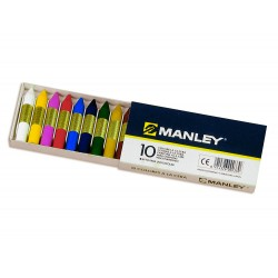 Lapices cera manley -caja de 10 colores