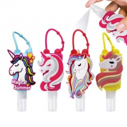 LLAVERO CON BOTE GEL 30 ML UNICORNIO
