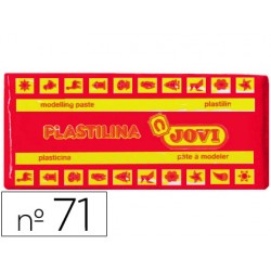 Plastilina jovi 71 rojo -unidad -tamaño mediano.