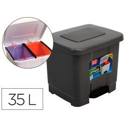 Papelera contenedor plasticforte plastico con pedal 2...