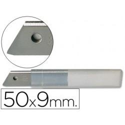 Repuesto cuter estrecho metalico q-connect 0,5x9 mm...