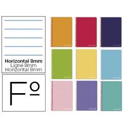 Cuaderno espiral liderpapel folio witty tapa dura 80h...