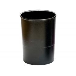 Cubilete portalapices q-connect plastico negro opaco