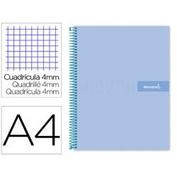 Cuaderno espiral liderpapel a4 crafty tapa forrada 80h 90...