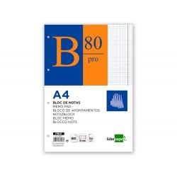 Bloc notas liderpapel cuadro 5mm a4 80 hojas 60g/m2 encolado