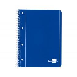 Cuaderno espiral liderpapel a4 micro serie azul tapa...