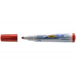 Rotulador bic velleda para pizarra rojo punta redonda 1,3 mm