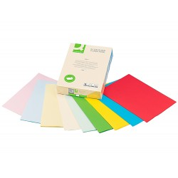 Papel color q-connect din a4 80 gr 5 colores surtidos...