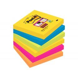 Bloc de notas adhesivas quita y pon post-it super sticky...
