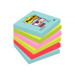 Bloc de notas adhesivas quita y pon post-it super sticky...