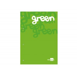 Bloc encolado liderpapel cuadro 5 mm verde a4 natural 100...