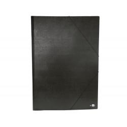 Carpeta planos liderpapel a2 carton gofrado n 12 negro