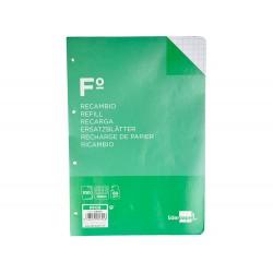 Recambio liderpapel folio 100 h 4tf-08 cuadro 8 mm 4...