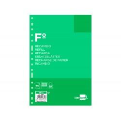 Recambio liderpapel folio 100 hojas 60g/m2 milimetrado...