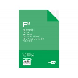 Recambio liderpapel folio 100 hojas 60g/m2cuadro 4mm con...
