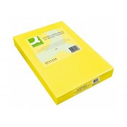 Papel color q-connect din a3 80gr amarillo paquete de 500...