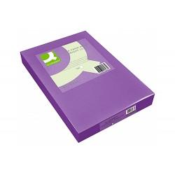 Papel color q-connect din a3 80gr lila paquete de 500 hojas