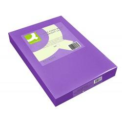 Papel color q-connect din a4 80gr lila intenso paquete de...