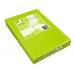 Papel color q-connect din a4 80gr verde neon paquete de...