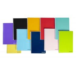Cuaderno espiral liderpapel folio smart tapa blanda 80h...