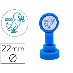 Sello artline emoticono bien color azul 22 mm diametro