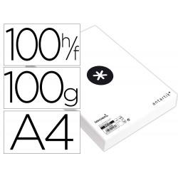 Papel liderpapel a4 antartik 100g/m2 paquete de 100 hojas...